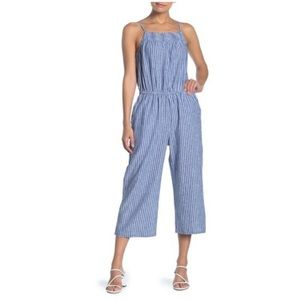 Beachlunchlounge Blue & White Striped Jumpsuit